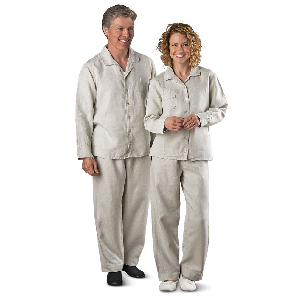 The Men's Genuine Turkish Linen Pajamas - Hammacher Schlemmer