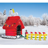 Snoopys Sleigh Inflatable