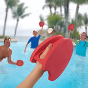 The Pool Paddleball Playset.