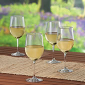 The Impervious Stemmed White Wine Glasses.