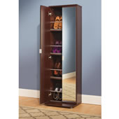 The Mirrored Shoe Armoire.