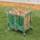 The Foldaway Four Bag Leaf Cart.