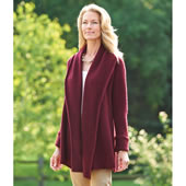 Ladies Washable Cashmere Topper Bur Lrg