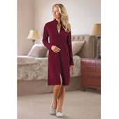 Ladies Wash Cashmere Dress Gown Bur Lrg