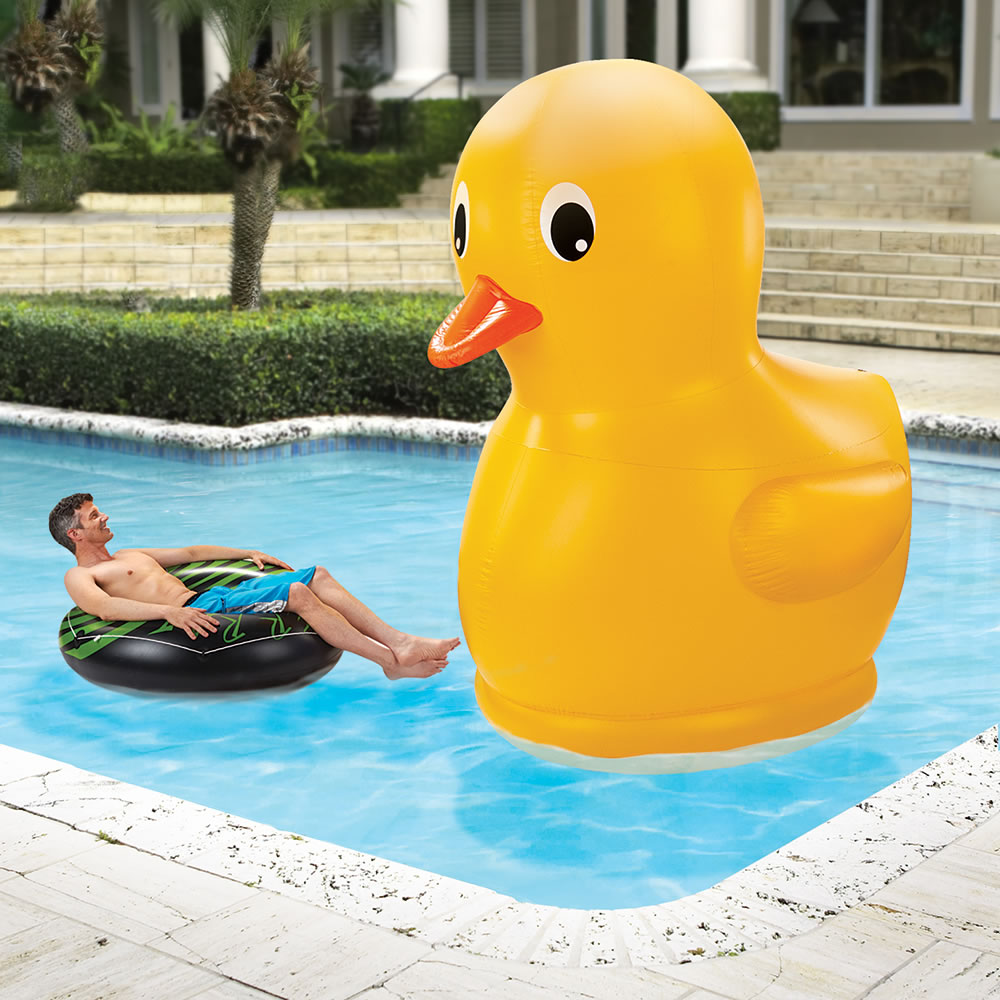 The Giant Rubber Duckie Hammacher Schlemmer