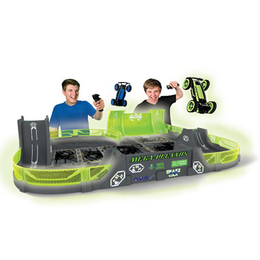 The Glow In The Dark Stunt Car Stadium.