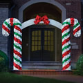 The Illuminated Candy Cane Archway.