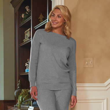 The Lady's Washable Cashmere Lounge Top.