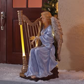 Lighted Symphonic Harpist Angel