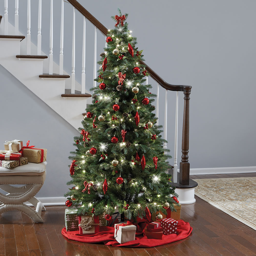Delightful Hammacher Schlemmer Christmas Tree Reviews Part - 5: The Instant Fully Decorated Christmas Tree