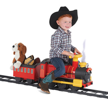 The Steam Spouting Ride On Train Set