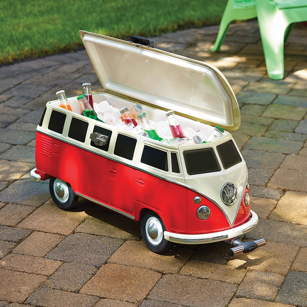 the volkswagen panel van cooler hammacher schlemmer. Black Bedroom Furniture Sets. Home Design Ideas