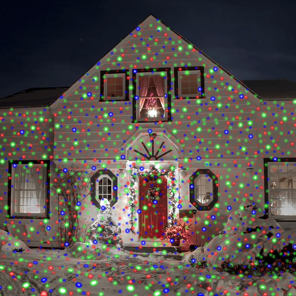 Projection house christmas lights