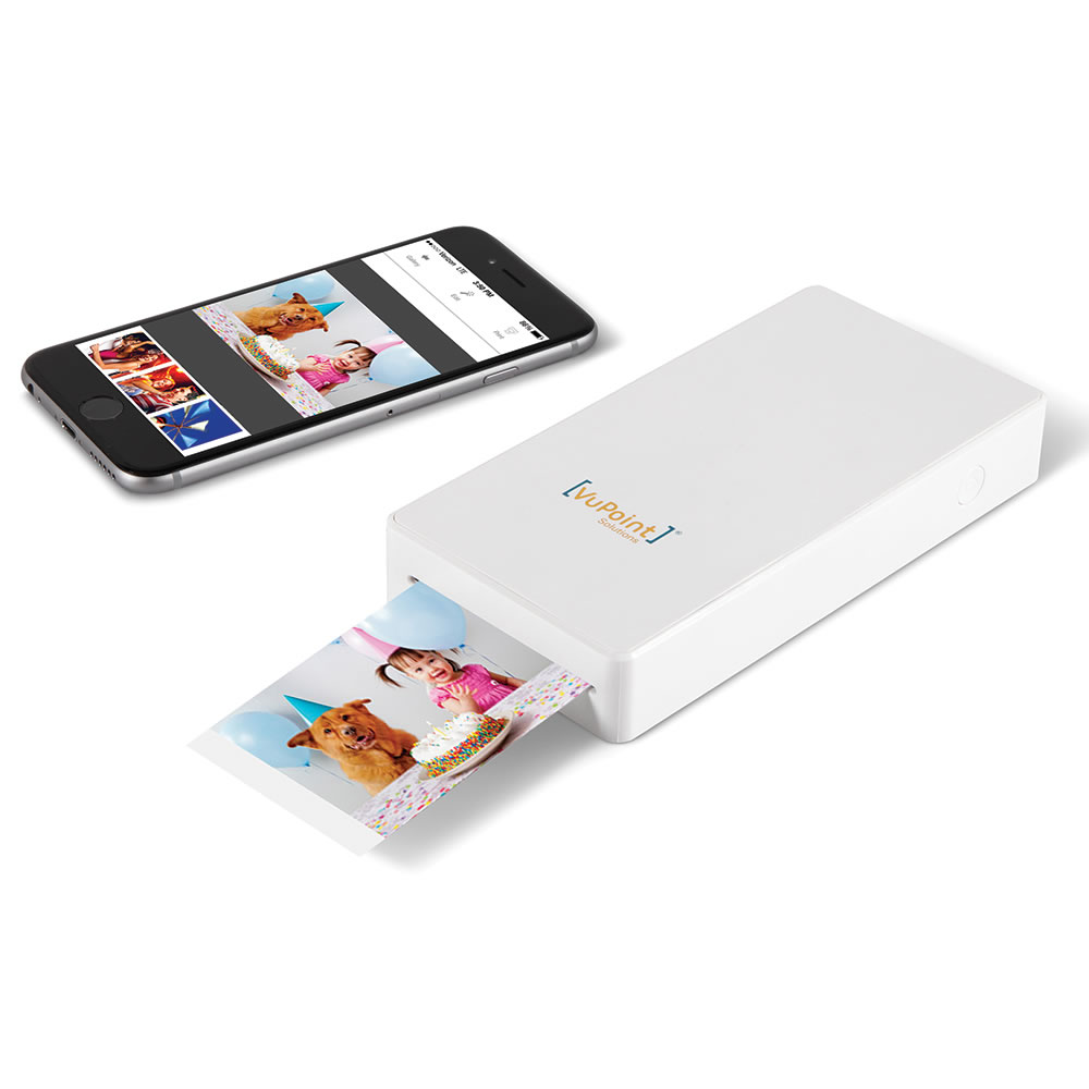 the portable smartphone photo printer hammacher schlemmer. Black Bedroom Furniture Sets. Home Design Ideas
