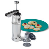 Genuine Italian Cookie Gun Silver