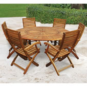 Lazy Susan Table With Set Of 6 Chairs