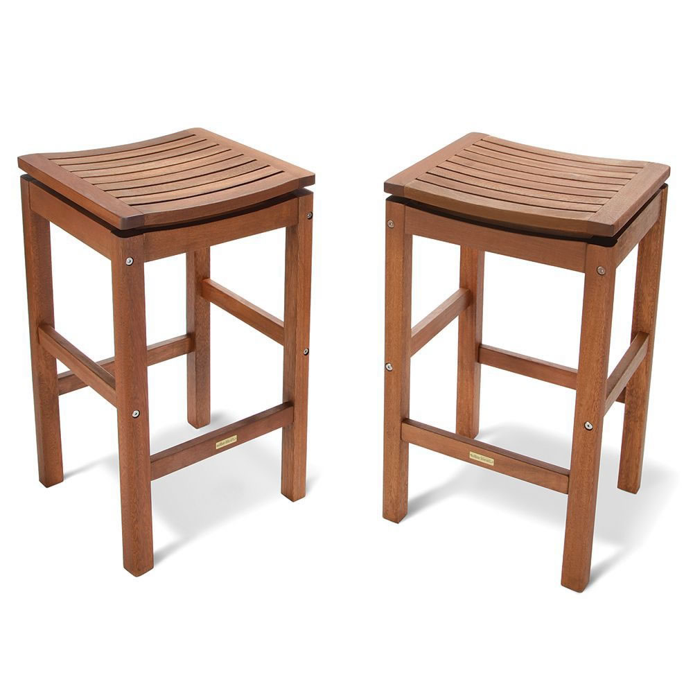 The Brazilian Eucalyptus Pub Table And Stools Hammacher