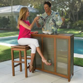 The Fortaleza Folding Outdoor Bar And Stools.