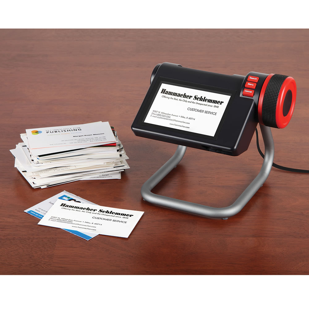 the digital business card organizer  hammacher schlemmer
