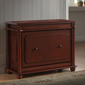 Slim Profile Shoe Storage Cabinet Cherry