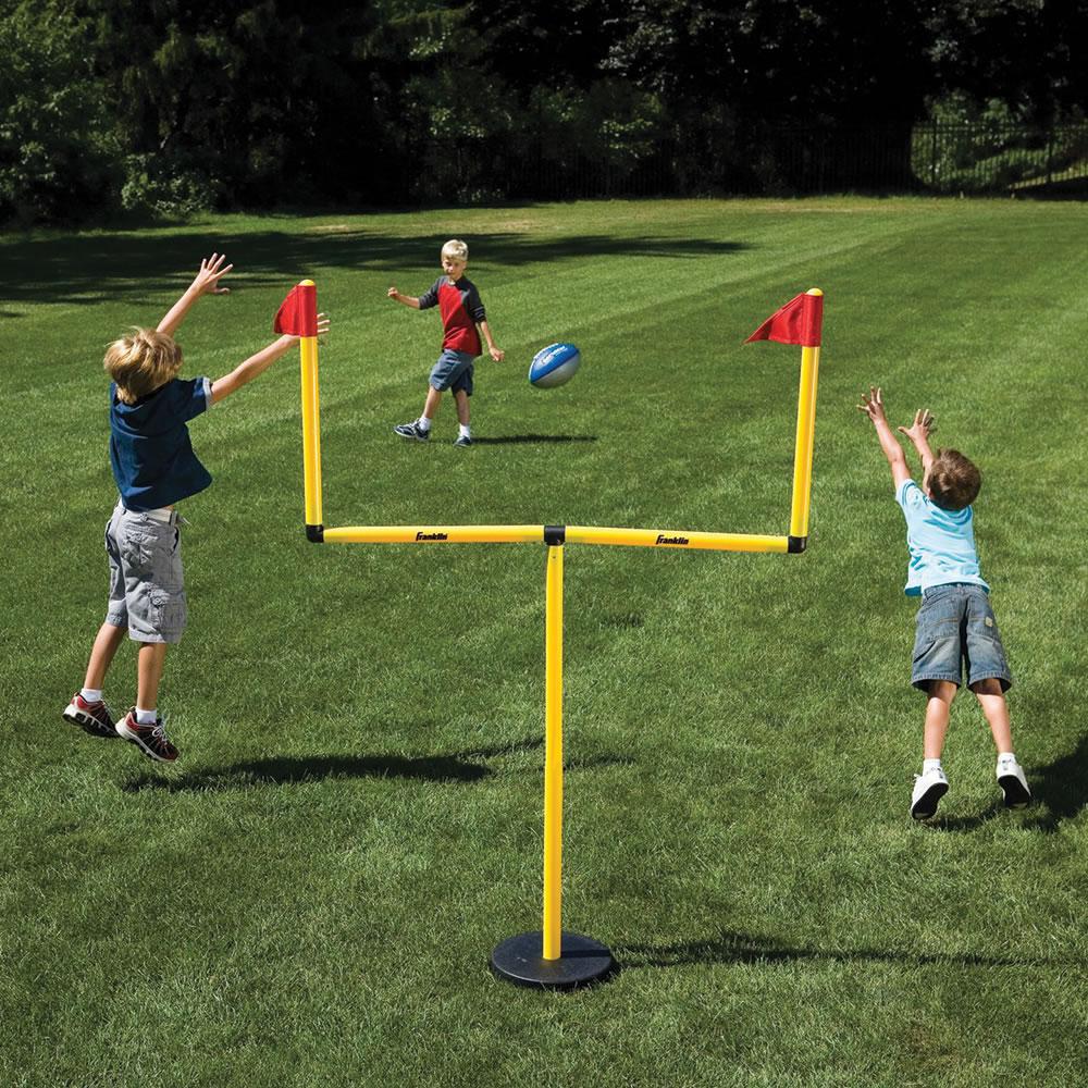 Football Field In My Backyard : Backyard Football Field Goal Posts The winning field goal backyard