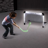 The Glow In The Dark Indoor Hockey Set.