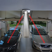 Two Car Laser Parking Guide Silver