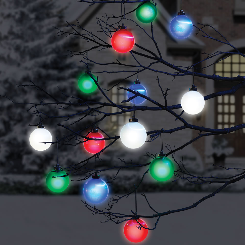 Outdoor christmas balls that light up how to make christmas light the cordless lighted outdoor ornaments hammacher schlemmer for outdoor christmas balls that light up winter wonderland outdoor christmas decoration aloadofball Choice Image