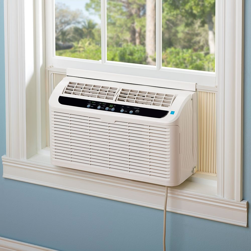 The world 39 s quietest window air conditioner hammacher schlemmer - Bedroom air conditioner ...