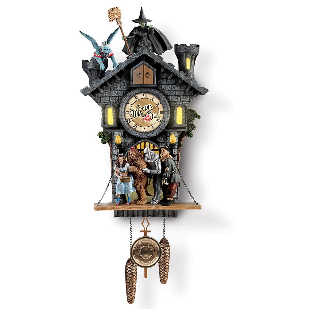 The Wizard Of Oz Cuckoo Clock Hammacher Schlemmer