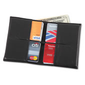 28 Card Florentine Lambskin Wallet Black