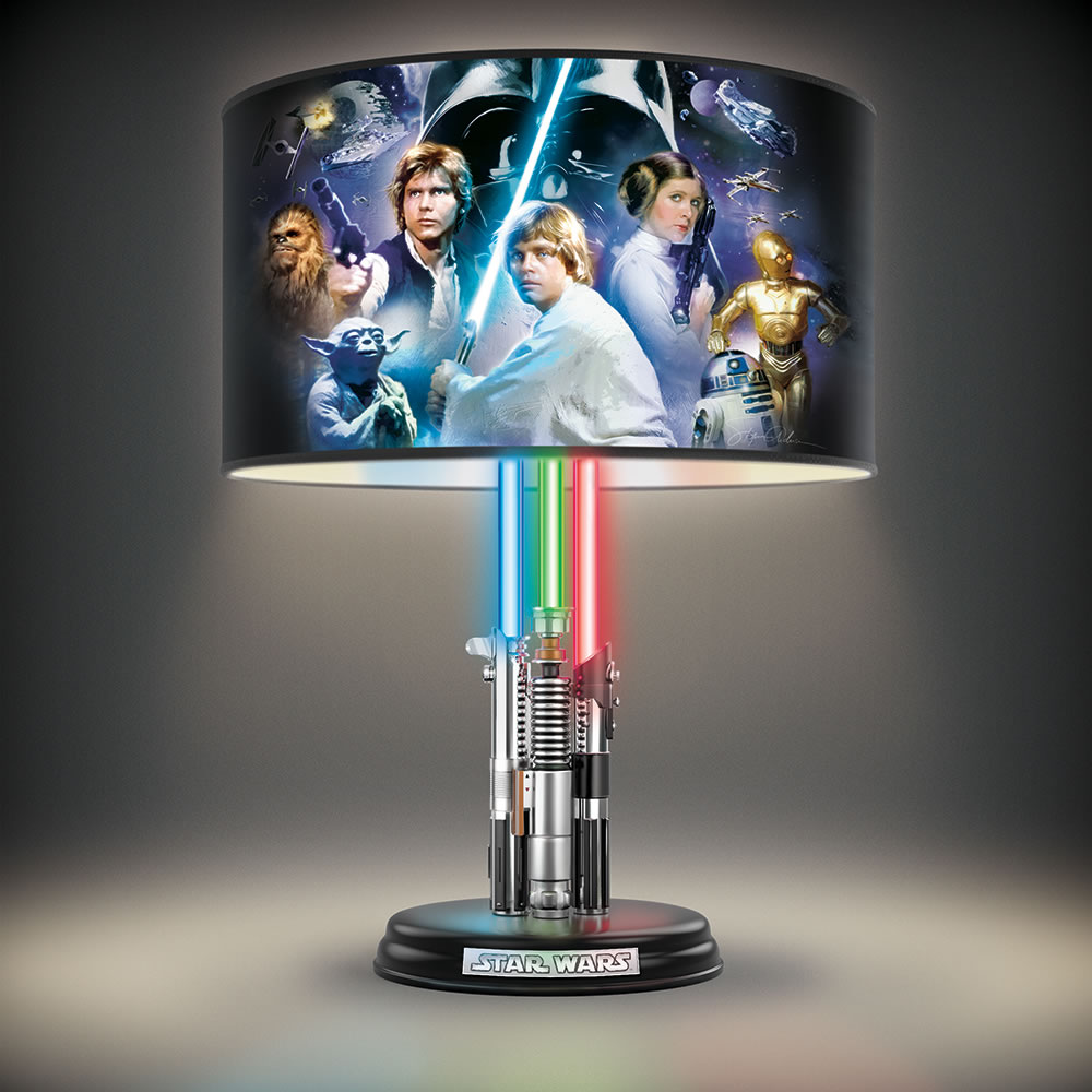 star wars lightsaber legacy lamp hammacher schlemmer