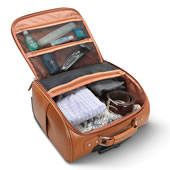 The Rolling Widemouth Leather Underseat Carry On.