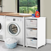 Tight Space Laundry Organizer White