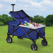 Collapsible Cooler Cart Navy