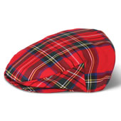 Tartan Irish Touring Cap Green Large