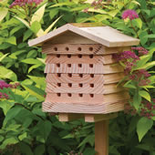 British Hortuculturist Bee House Wood