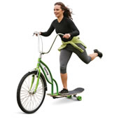 Longboard Bike Green