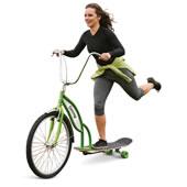 Longboard Bike Green