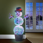 4.5 Ft Dancing Lights Snowman