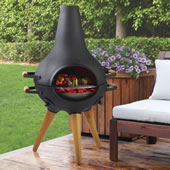 Award Winning Chimnea Black