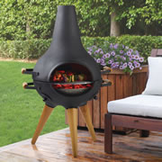 The Award Winning Transforming Chiminea Grill.