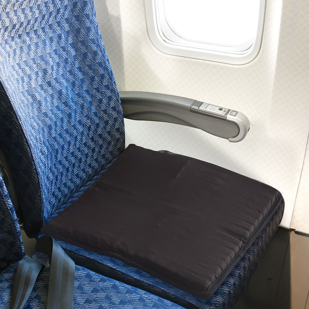 The Traveler s Packable Gel Seat CushionThe Traveler s Packable Gel Seat Cushion   Hammacher Schlemmer. Gel Chair Pads And Cushions. Home Design Ideas
