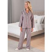 Ladys Irish Flannel Pajamas Whi Lrg