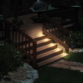 Flush Mount Solar Stair Lights Black