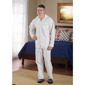 Cotton Seesucker Sleepwear Mens Large
