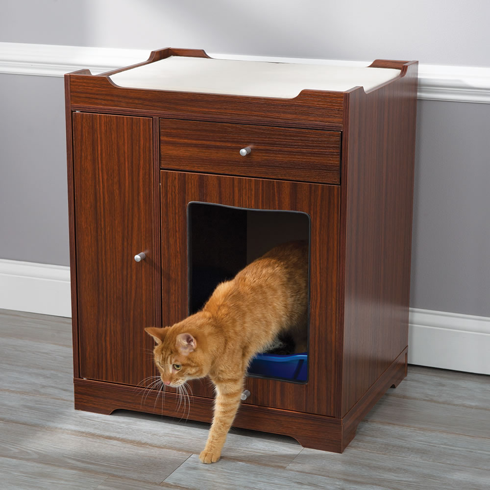 Outdoor cat shelter for multiple cats