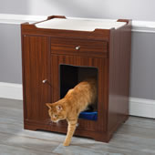 Litter Box Concealing Bench