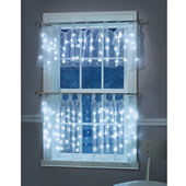 The Illuminated Sheer Cafe Curtains.