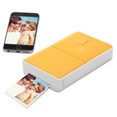 Portable Iphone Photo Printer Orange